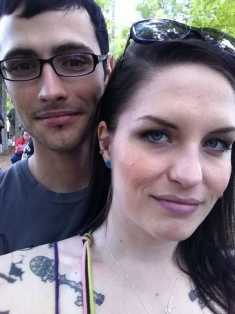 My handsome man and vampirishly pale me at Renaissance Festival while watching some jousting. Had a great weekend :)