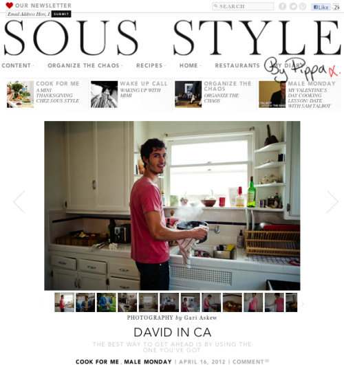 gla2:  Princeton Drummer, David Kitz for SousStyle.com photographed by  Gari Askew II Check out the site……great stuff. Thanks to Nicole Chew, Cassandra Parigian & Mr David Kitz….for the time + the meal.