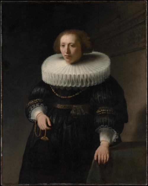 fckyeaharthistory:  Rembrandt -Portrait of a Woman, Probably a Member of Van Beresteyn Family,1632. Oil on canvas