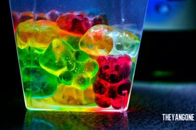 Monday nights are far better when everybody drowns in gummy bears…