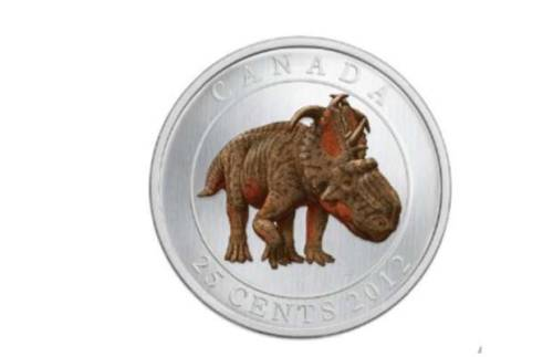 "wnycradiolab:  Canada to Introduce Glow-in-the-Dark Quarter  ""When Canada introduced polymer bills last year to replace their paper ones, we thought – cool! Then just a few weeks ago, the Canadian government announced it was doing away with pennies as a cost-cutting measure, and we thought – seems drastic, but ok! Now they've announced that a new quarter to be released next week will glow in the dark. Alright – Canada's completely lost it.""  It glows in the dark AND it has a dinosaur on it.  I think it's possible that the Royal Canadian Mint is being run by an 11-year-old boy.  And, you know what?  I think we should hire one for the United States Mint too, because that quarter is awesome."
