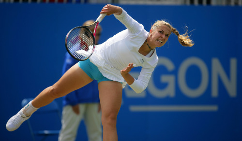 The magnificent Sabine Lisicki in action at the Aegon Classic. She is brilliant to photograph and a superb tennis player. Future world number 1