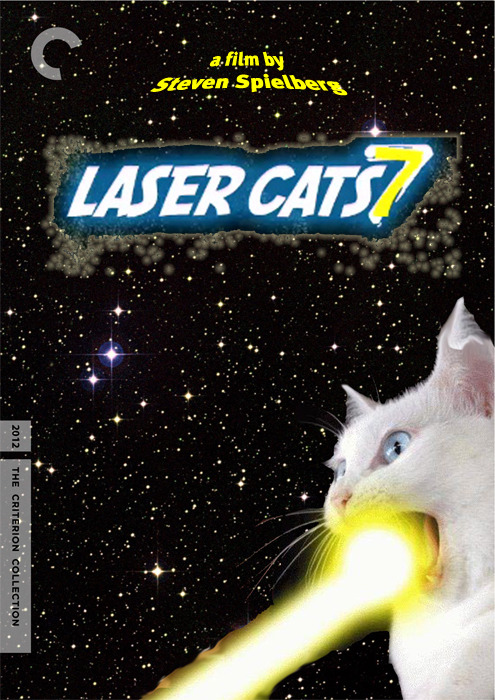 officerserpico:  Lasercats 7 (2012), directed by Steven Spielberg. Cat image from http://cassiroll.com.   #Get Some