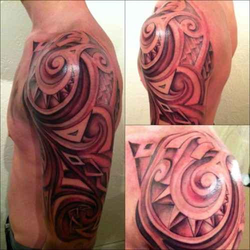 Fun tribal piece I wrapped up last night #tattoosbydeehutch #tattoos #nofilter  (Taken with instagram)