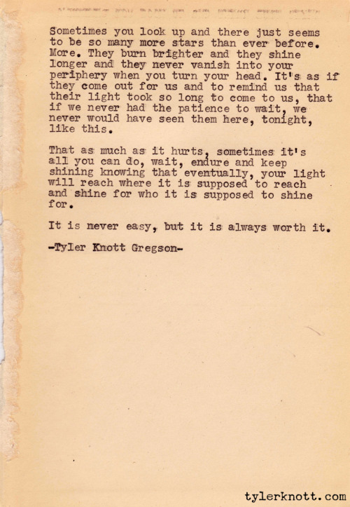 Typewriter Series #23 by Tyler Knott Gregson