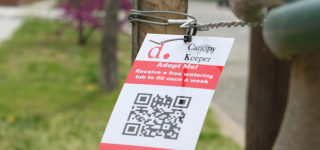 A QR Code too far? Do we need to give people a sense of ownership to care for trees in public places? The District of Columbia's Department of Transportation, have done just that via sticking QR codes to trees. More info .