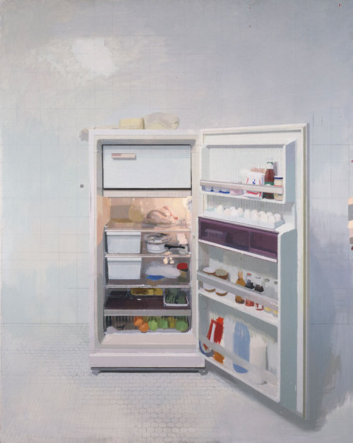 darksilenceinsuburbia:  Antonio López García. New Refrigerator, 1991-94. Oil on canvas, Collection of the Artist, Photograph © Francisco Fernández, Unidad Móvil, Photograph courtesy, Museum of Fine Arts, Boston.