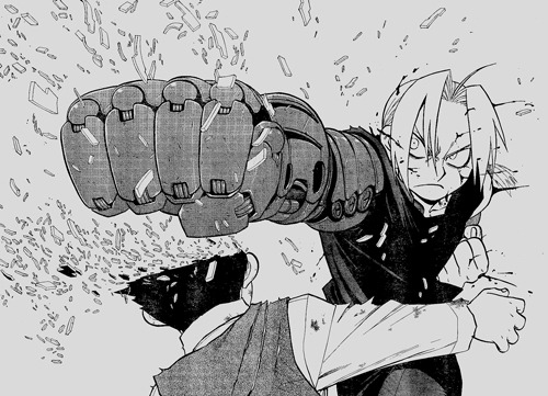 "That time Edward Elric squeezed a child's until it exploded but didn't kill him and then was like ""man I'm going to have to apologize to his mom"""
