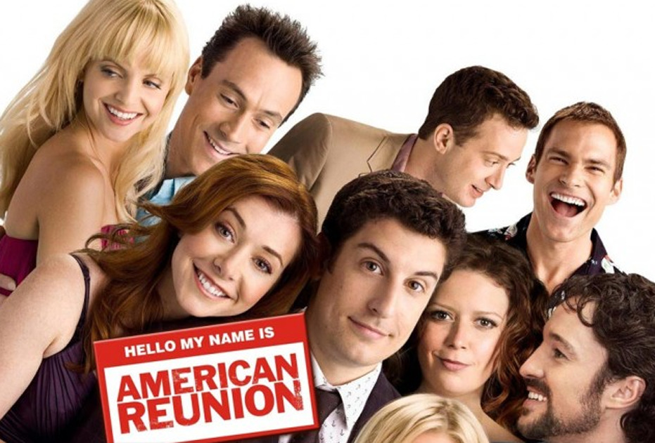 "American Reunion (2012) - Directed By Jon Hurwitz, Hayden Schlossberg - Rating: 2/5 ""American Reunion"" reunites the class of '99 and the old high school crew, Jim, Oz, Kevin, Stifler, and Finch. Although funny at times, the premise has become tired over the years, now on it's fourth installment (if you're not counting the numerous straight to DVD films). Sure Stifler is a funny character that still has great moments, but it's not enough to keep this movie afloat. The idea of having a ""13 year reunion"" makes no sense what so ever, which just translates this into probably being nothing more than a desperate cash grab from the cast and crew. The movie seemed to be too concerned with putting the characters in ridiculous situations then actually spending time to create even a little emotional depth or sympathy. Jim having to fight of the sexual advancements of a high schooler, Oz as a ""famous"" sportscaster who was on a dancing show, and Jim's dad getting drunk while trying to hit on Stifler's mom, are just a few of the crazy storylines. There were some pretty good cameos, and a few key observations of how culture has changed since the late 90s. However, what could have been a great comedy that also reflected on what ""post-high school"" life means to the now the early 30 somethings, was completely missed. I feel like the 1990's are an underappreciated decade that could use a great movie that evokes real nostalgia. I will say though, if you're a fan of the series and you enjoy spending time with Jim and company, then American Reunion may not completely disappoint. //post by scott Tweet"