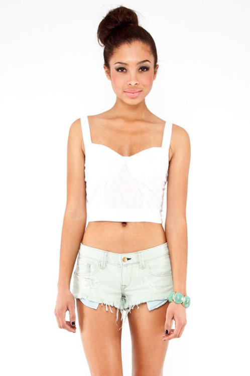 Eyelet Corset Top  - also in pink Tobi.com - $40
