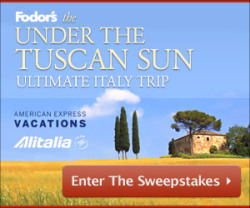 Enter to win a trip to Italy and a visit with Frances Mayes, complete with apertifs on the terrace of Bramasole.