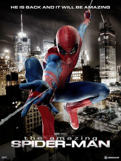 It's the brand new official poster for The Amazing Spider-Man Amazing Spider-Man is amazing