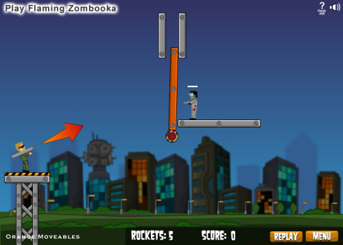 beplayed:  Play Flaming Zombooka | Free Online Games