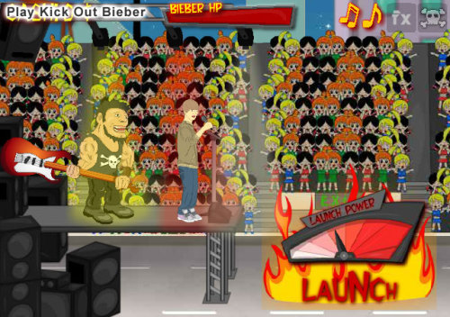 beplayed:  Play Kick Out Bieber | Free Online Games