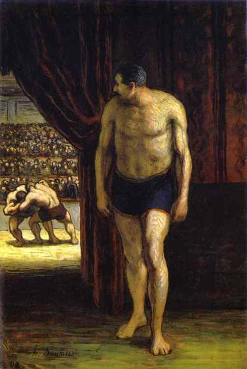 androphilia:  The Wrestler By Honoré Daumier, 1852-1853