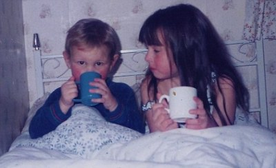 doctorwho:  Matt Smith and his sister Laura Jayne Smith as children. I just… oh my god.