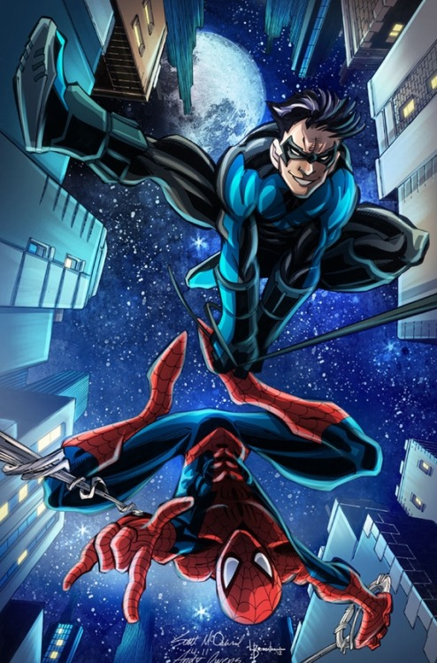 Spider-Man & Nightwing by Scott McDaniel, Andy Owens and Liezl Buenaventura.