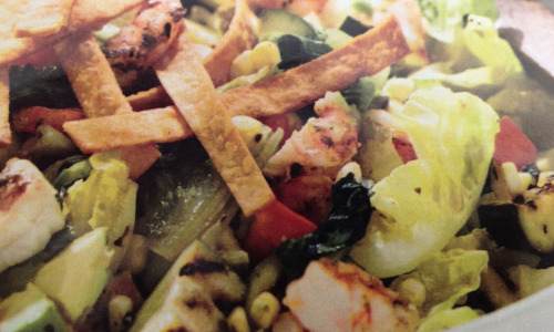 Grilled California-Style Chopped Salad with Shrimp