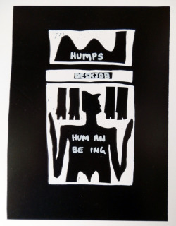 HUM AN BE ING, 2012 Ink on Paper