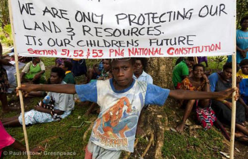 Locals protesting the destruction of their forest in Papua New Guinea for two palm oil plantations say police have been sent in for a second time to crack-down on their activities, even as a Commission of Inquiry (COI) investigates the legality of the concession. Traditional landowners in Pomio District on the island East New Britain say police bankrolled by Malaysian logging giant Rimbunan Hijau (RH) have terrorized the population, including locking people in shipping containers for three consecutive nights. The palm oil concessions belongs to a company known as Gilford Limited, which locals say is a front group for RH.Read more:http://news.mongabay.com/2012/0416-hance_pomio_conflict.html#ixzz1sEHubHnh