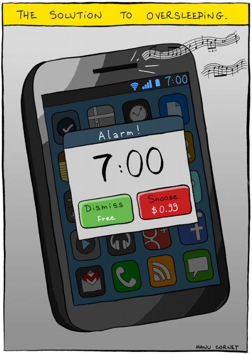 Hahaha - awesome :)  I am a snooze button addict