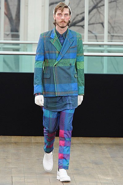 jesshazley:  agi & sam fw11  large over check print is unbelievable, colours make it! kinda wish it wasn't mens wear!