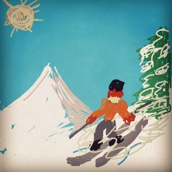 #drawsomething skiing (Taken with instagram)