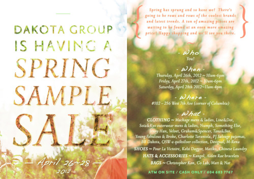 Dakota Sample Sales are the best! Check it out and join their Facebook event page!