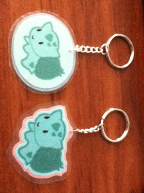 Bulbasaur Keychains that I made :D
