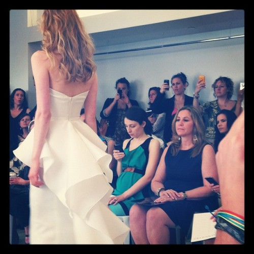 Back of the asymmetrical peplum at Angel Sanchez (Taken with instagram)