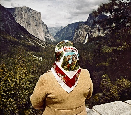 minusmanhattan:  Woman with Scarf at Inspiration Point, Yosemite by Roger Minick.