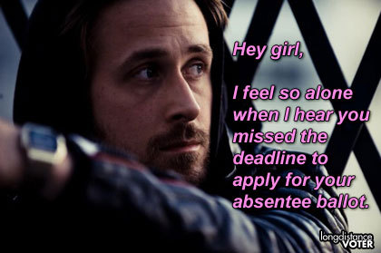 Gosling take 2. (30 days of meme outtakes.)