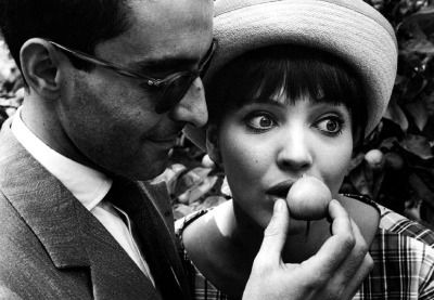 Jean-Luc Godard with his wife Anna Karina by Robert Lebeck, Berlin 1961