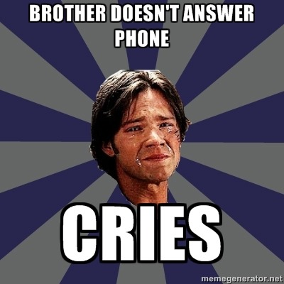 dudewheresmyhacksaw:  Crying Sam Winchester