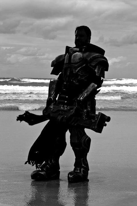John in Remnant Guard on Daytona Beach at Florida Steampunk Expo this past weekend Photo By: Nathan Carter