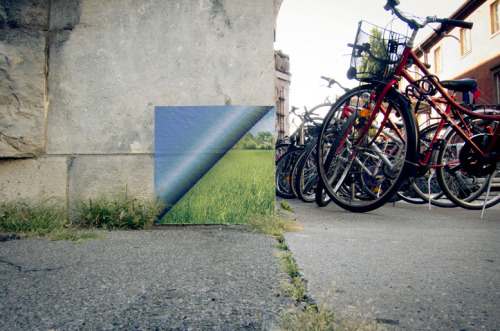 welcometosuburbia:  'Peel-Away' street art by The Miha Artnak.