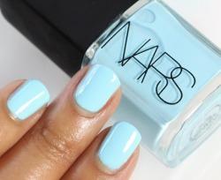 beauty summer blue nail polish nars