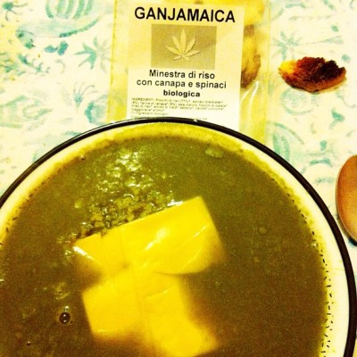 #Soup #spinach 🍁 #hemp #cheese #food #rice #vegan #ivegan available on ivegan.it #yummy #ganjamaica #italy #rome #italy #shop #vegan #shop #vegan #cheese (Scattata con instagram)