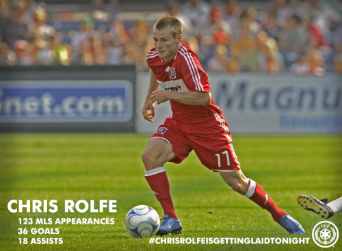 Chris Rolfe returns to the Chicago Fire, and the old chant will be going again soon…. Chris Rolfe is getting laid tonight… (sorry folks, sometimes the partisan Fire fan in me cannot be contained.)