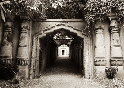The Egyptian Avenue leading up to the Circle of Lebanon. Highgate Cemetery, Highgate, London. I think Highgate is my favorite part of London. Not just because it has an amazing old cemetery, but because the whole village looks like it stepped out of a Victorian novel.