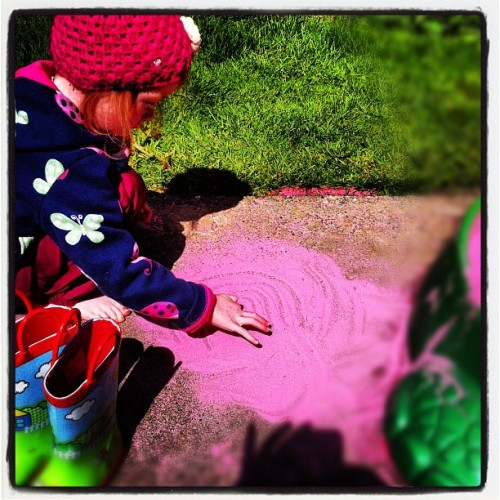 Drawing in the sand (Taken with instagram)