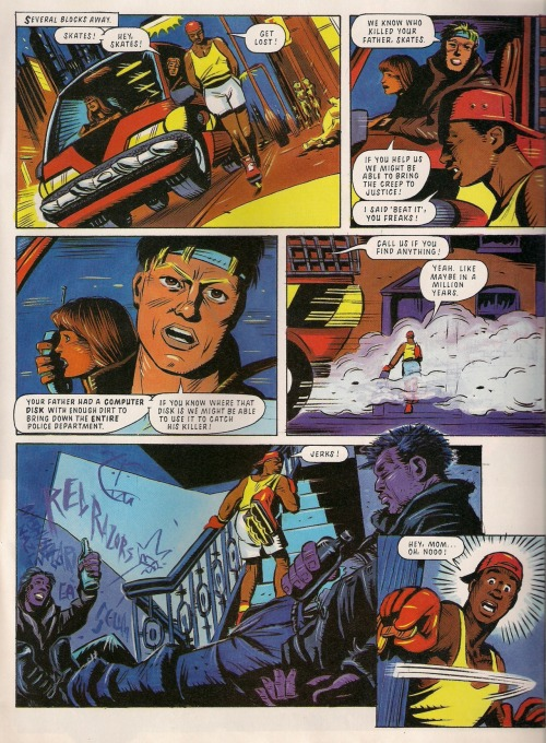 "oldmanrupee:  Remember when Mark Millar did that comic strip based on the awesome Megadrive game ""Streets Of Rage"", that strip that ran in the old Sega-endorsed British comic book ""Sonic The Comic""? I DO."
