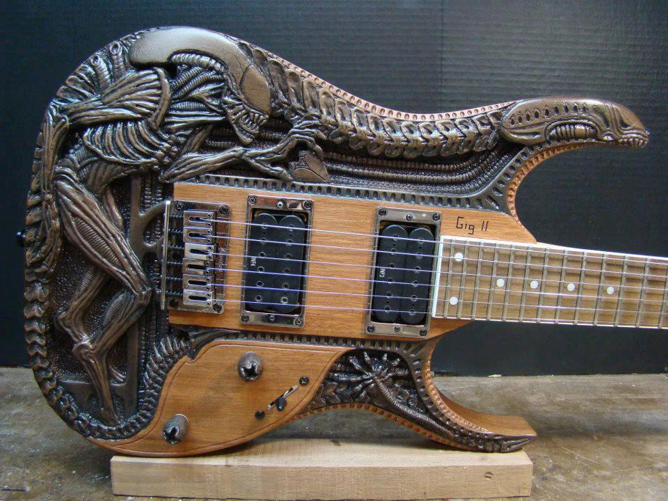 An awesome Alien guitar