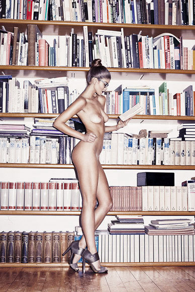libraryvixen:  private librarian source needed   Because naked and books just go together, right?