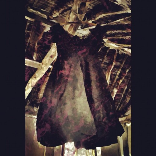 My Dress Hangs There No. 3 - I like this one better! #retro #retrogram #sepia #iphoneonly #photoart #artistsontumblr  (Taken with instagram)