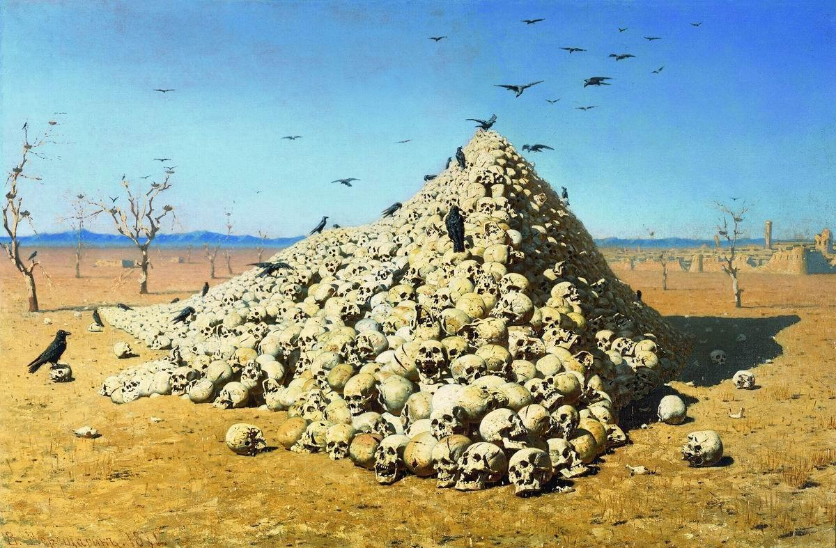 """Apotheosis of War"" - Vasily Vereshchagin"