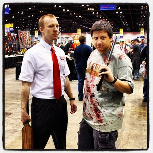You've got red on you. #c2e2 #cosplay #shaunofthedead  (Taken with instagram)