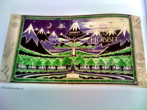 "Day 125 - More from ""The art of The Hobbit"" This really is a stunning book that I wish a few snapshots could do justice too. From its vibrant slipcover to the stunning large format colour reproductions of the illustrations from The Hobbit, it delights the eye with almost every page. The double gatefold pieces are particularly impressive.  In a year that will be crammed with book releases that have some relation to The Hobbit, many of which will be low quality cash ins or recycling of earlier titles, this completely new work is an ideal addition to any collection of Hobbit books.  Its a thing of beauty, get a look at it if you can."