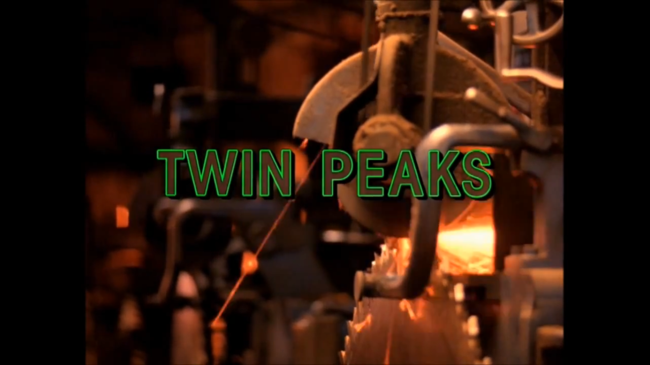 TV Tittle of Twin Peaks - David Lynch masterpiece - 1990