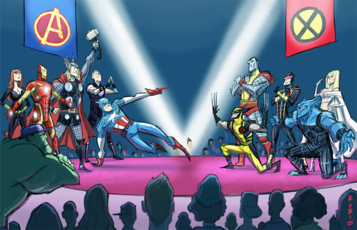 lulubonanza:  Avengers vs. X-Men by *barrypresh